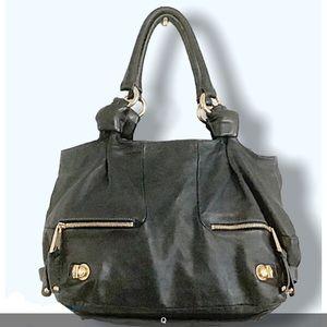 MARC JACOBS Giant Leather Satchel/Shoulder Bag